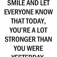 Better Today, Than Yesterday !