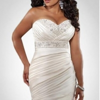 Elegant And Eye  -  catching Discount Plus Size Wedding Dresses