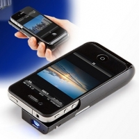 Iphone 4/4s Micro Projector Case That Charges Your Iphone