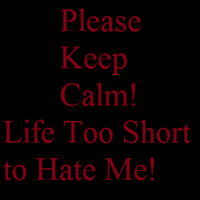 Life Too Short to Hate Me