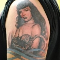 Pin Up Girl Tattoos – Bettie Page