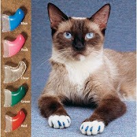 Putting Rubber Tips on My Two Cat\'s Skiibowski And Milky Was No Picnic