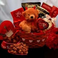Valentine Chocolate Gift Basket